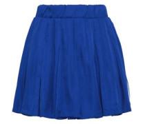 Pleated Woven Mini Skirt Royal Blue