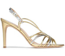 Milena two-tone metallic leather sandals