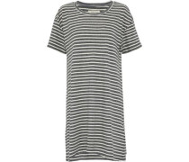 Striped Cotton-blend Jersey Mini Dress Charcoal Size 1