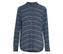 Anabella Printed Voile Shirt Navy