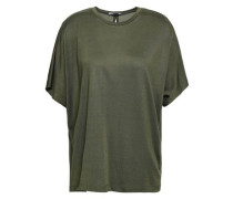 Open-back Jersey T-shirt Army Green