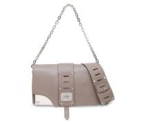 Cutout Leather Shoulder Bag Mushroom Size --