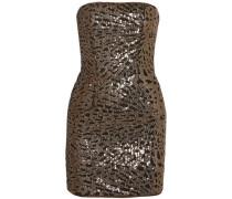 Naomi Strapless Sequined Tulle Mini Dress Black Size 0