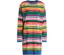 Cotton-jacquard mini dress