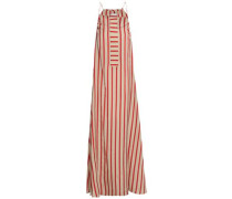 Striped woven maxi dress