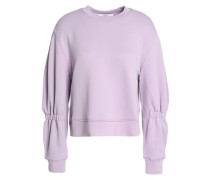 Shirred French terry sweatshirt