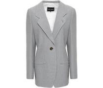 Cotton-jacquard Blazer Light Gray