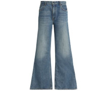 High-rise Wide-leg Jeans Mid Denim  4