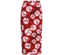 Tie-dyed cotton midi skirt