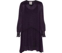 Abalena Printed Georgette Mini Dress Purple