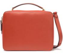Circus Color-block Leather Shoulder Bag Tan Size --