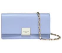 Two-tone Leather Clutch Sky Blue Size --