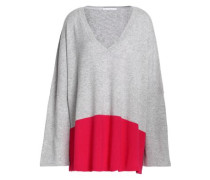 Two-tone Cashmere Top Light Gray  /M