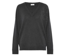 Beaded cashmere sweater