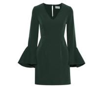 Morgan Fluted Cady Mini Dress Forest Green