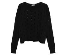 Open-knit Sweater Black