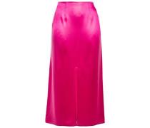 Woman Satin Midi Skirt Bright Pink
