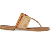 Aliyah embroidered suede sandals