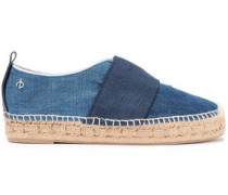 Nina Strap-detailed Denim Espadrilles Mid Denim