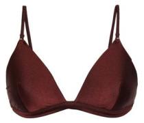 Metallic Triangle Bikini Top Chocolate Size 0 A