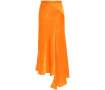 Asymmetric Neon Moiré Midi Skirt
