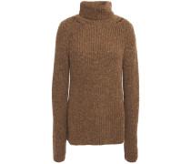 Ribbed Alpaca-blend Turtleneck Sweater