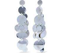 Hammered silver-tone earrings