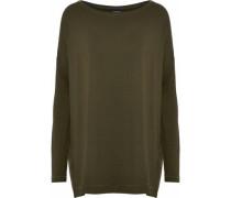 Stretch-knit Top Army Green