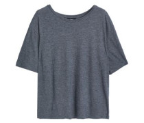 Mélange Pima cotton and modal-blend jersey T-shirt