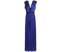 Griffin Satin Plissé Gown Royal Blue Size 12