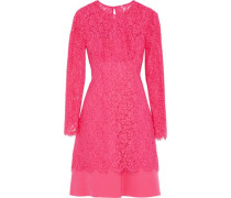 Layered corded lace and cady dress