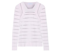 Pointelle-knit Sweater Lilac
