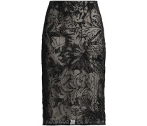 Devoré-velvet skirt