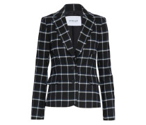 Checked brushed-twill blazer
