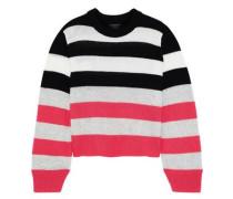 Annika Striped Cashmere Sweater Bright Pink