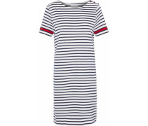 Striped organic cotton-jersey mini dress