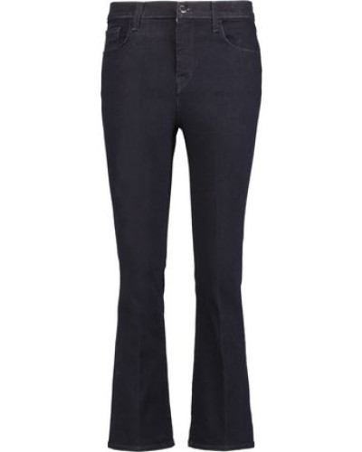 Helena cropped mid-rise bootcut jeans