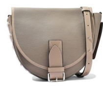 Bike Lace-up Smooth And Textured-leather Shoulder Bag Taupe Size --