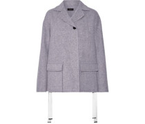 Caplan brushed wool and cashmere-blend coat
