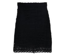 Crochet-knit Mini Skirt Black Size 1