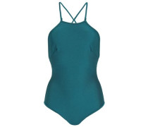 Separates open-back swimsuit
