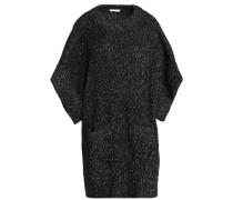 Oversized marled bouclé-knit sweater