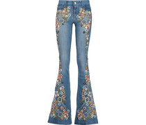 Ryley embellished mid-rise flared jeans