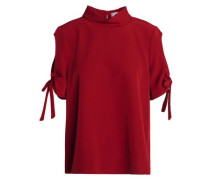 Cold-shoulder cady blouse