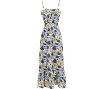 Linen Maxi Dress Blue Size 0