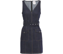 Woman Gwyneth Belted Denim Mini Dress Dark Denim