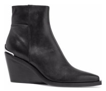 Santiago leather wedge ankle boots