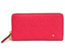 Quilted Leather Wallet Fuchsia Size --