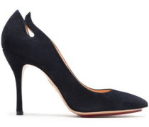 Inferno Cutout Suede Pumps Indigo