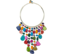 Tequila gold-tone stone necklace